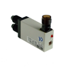 FS1/0N-E Photo-Electric Switch Amp. For Optical Fibre, M12 Plug DC NO/NC NPN Sn = Fibre Dependent